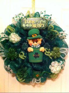 St Patricks Day Wreath St Patricks Boy by WreathsbyLinda on Etsy, $85.00
