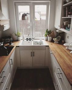10 trend inspirations for the kitchen design - Home Fashion Trend Kitchen Room Design, Home Decor Kitchen, Interior Design Kitchen, Kitchen Furniture, New Kitchen, Home Kitchens, Small Modern Kitchens, U Shaped Kitchen, Apartment Kitchen