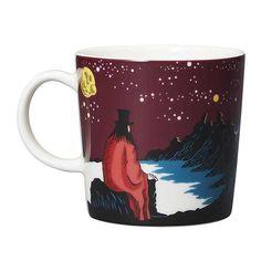Arabia Moomin Hobgoblin & His Panther Ceramic Mug Cup. Moomin Shop, Moomin Mugs, Tove Jansson, Hobgoblin, Mug Cup, Black Panther, Coffee Mugs, Mystery, Ceramics