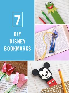 Learn how to make these DIY Disney bookmarks perfect for the bookworm kids (and adults) in your family.: