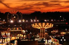 Dusk in October at the North Carolina State Fair