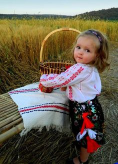 A Romanian cutie pie in traditional folk costume