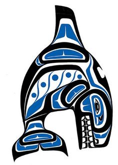 Killer Whale, from the Haida Native Americans. The Haida are an indigenous people of British Columbia, Canada and British North America, formerly the Russian Territories.