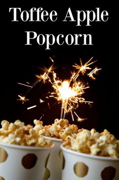 Toffee Apple Popcorn - Perfect for a Halloween Party, Bonfire Night Feast or just because you can!