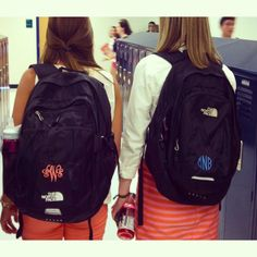 So I'm kind of thinking that I have no choice but to monogram my northface backpack now...