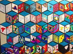 Cube Mural Inspired by Street Artist Thank YouX   Art is Basic   An Elementary Art Blog