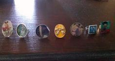 Handmade rings with liquid glass!