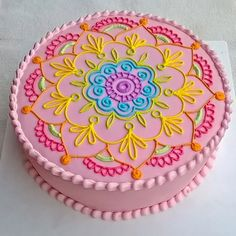 #decoracion @dedacrema #mandala #cake #colours