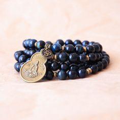 108 Mala Wrap Bracelet Buddhist Prayer Bead Yoga by MishkaSamuel