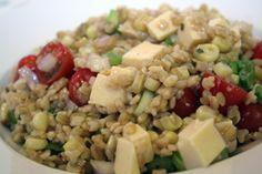 Wheat Berry & Barley Salad with Smoked Mozzarella
