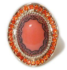 Bijoux Materiale Anel Laranja - 701391 | enjoei :p