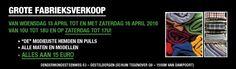 Fabrieksverkoop herenhemden en pulls -- Destelbergen -- 13/04-16/04