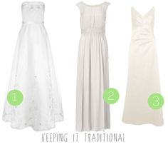More high street wedding dresses for the budget bride! :) Keeping it traditional dresses.