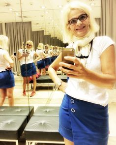 #skirt #instagood #rocknroll #love #follow4follow #model #instafashion #style #blue #fashion #portrait #f4f #instaphoto #greatful #mirror #fashioninsta #mirrorselfie #citylife #followme #lifestyle #citytrip #denmark #blonde #conference #dogsofinstagram #iphone #greatday #hairstyle #selfie  Today I went to a store to try out a skirt. I was absolutely fascinated by the mirror in the fitting room. I did not get the skirt but I loved their mirror. I love my life. Have a great one - I know I…