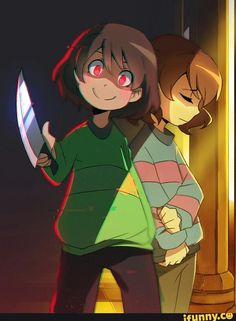 chara, frisk, undertale