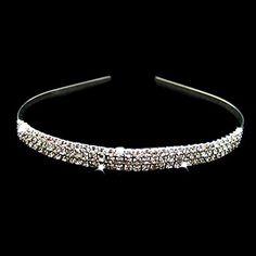 prachtige heldere kristallen bruiloft bruids tiara / helm / hoofdband – EUR € 4.89