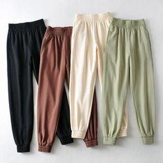 Teen Fashion Outfits, Fashion Pants, Girl Outfits, Trousers Women, Pants For Women, Cute Sweatpants, Cute Pants, Comfy Pants, Casual Pants