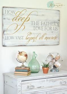 I prayed for this child and the Lord has granted me what I asked of Him. I Samuel 1:27 Unique hand-painted wood sign by Aimee Weaver Designs.