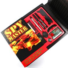 Spy Master Kit ~ Here at Spycatcher we are focused on training the secret agents of the future and the Spymaster Spy kit from our spy toys for kids range provides the essential equipment needed to start to any budding spy's career.