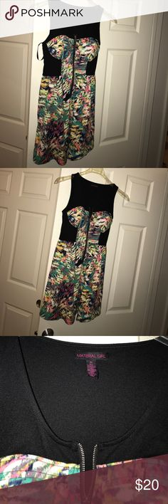 Dress Color fun dress worn once Material Girl Dresses Midi
