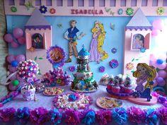 mesa de dulces de rapunzel - Buscar con Google
