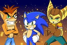 Sonic X2 Characters (fan series) by Leg000. Crash Bandicoot, Clank ,',