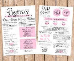 Wedding Program Infographic Wedding Program Fun Wedding Program by PeekabooPenguin Fun Wedding Programs, Printable Wedding Programs, Wedding Stationary, Wedding Tips, Our Wedding, Wedding Planning, Wedding Punch, Wedding Venues, Wedding Programme Ideas