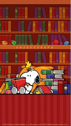 Snoopy wallpaper reding book cute wallpaperYou can find Peanuts snoopy and more on our website. Snoopy Love, Snoopy Et Woodstock, Charlie Brown And Snoopy, Cartoon Cartoon, School Cartoon, Funny School, Cartoon Wallpaper, Snoopy Wallpaper, Happy Birthday Meme