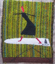 "Laura Kenney Rugs: ""Judy ...catching a wave on her ironing board"""