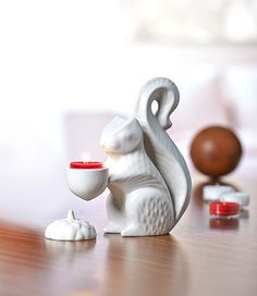 The Squirrel Tealight Holder from the NEW Jonathan Adler collection exclusively for PartyLite! http://www.partylite.co.uk/products/jonathan-adler-overview.html #JonathanAdlerforPartyLite