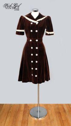 c30e41618f6 1930s velvet dress 1930s Dress