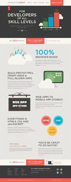 Application Craft - App development for Mobile and Desktop - #Webdesign #inspiration www.niceoneilike.com