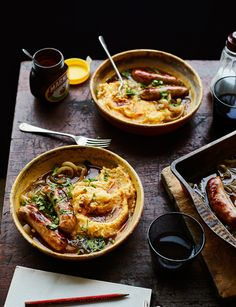 Our sausages with Marmite mash recipe has given the nation& favourite comfort food a mar-mighty twist Marmite Recipes, Sausage Recipes, Pork Recipes, Vegetarian Recipes, Cooking Recipes, Recipies, Vegemite Recipes, Meal Recipes, Cooking For A Crowd