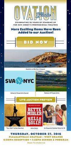 New Jersey Footlights: NJ Theatre Alliance Ovation Gala October 27th