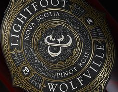 Lightfoot & Wolfville's new Pinot Rose is beautiful and mysterious in taste and the design is a reflection of those characteristics. The wine is grown and farmed on L&W's family vineyard in Nova Scotia that was once home to ancient Acadian settlers. The b…