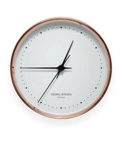 Copper clock by Henning Koppel for Georg Jensen, $365; georgjensen.com.