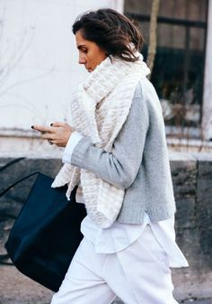 Emmanuelle Alt - 15 chunky knits for a cosy fall