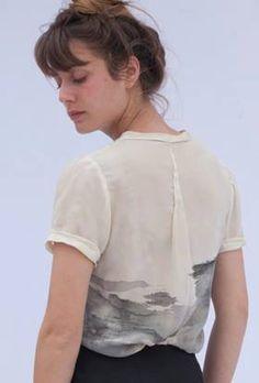 B l a c k H e a r t Sheer White Collar Silk Buttoned by KarniKadan