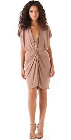 Twist Front Dress / Haute Hippie {oh love love love the shape of this dress - seems flattering on anyone}