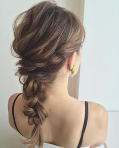 Large and Loose Braid with a High Pony - Braided Ponytail Hairstyles Braided Ponytail Hairstyles, Up Hairstyles, Pretty Hairstyles, Medium Hair Styles, Natural Hair Styles, Curly Hair Styles, Hair Dyed Underneath, Cute Ponytails, Hair Arrange