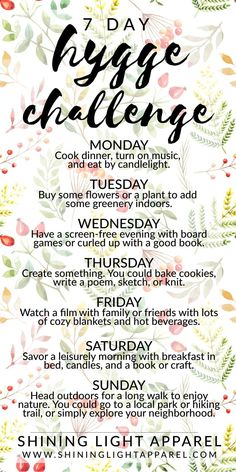 Hygge Challenge. great idea to start the new year on the right foot #newyear #newyearseve #hygge #challenge
