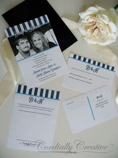 My Wedding Invitations!   Modern  via www.cordiallycreative.com
