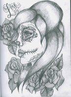 Day of The Dead Skull Girl by 12KathyLees12