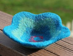Ravelry: Felted Flower Bowl free pattern by Meg Myers