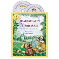 Shakespeare's Storybook-Professional storyteller Patrick Ryan has brought together the stories that are at the heart of seven of Shakespeare's masterpieces. *Will be using in our Morning Basket time during the school year. Works Of Shakespeare, William Shakespeare, Audio Books For Kids, Barefoot Books, Listen To Reading, Political Issues, Child Love, Read Aloud, So Little Time