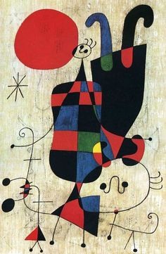 Joan Miró – Figures and Dog in Front of the Sun