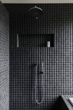 The Design Walker • Black bathroom at Wistow House by Fabrikate