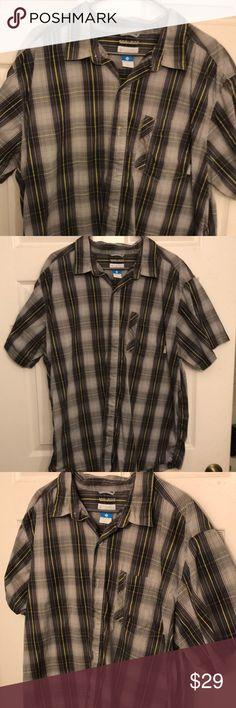 """New Mens Columbia /""""Eaglecreek/"""" Classic Short Sleeve Shirt L-XL"""