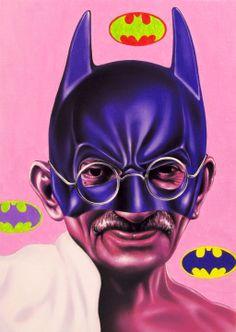 Bahatman Gandhi - oil on canvas - cm70x50 - 2013