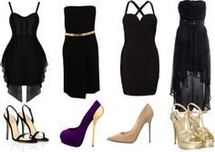 A fashion look from August 2012 featuring sexy maxi dresses, strapless dresses and metallic dress. Browse and shop related looks. Shoe Bag, Polyvore, Stuff To Buy, Shopping, Shoes, Collection, Black, Design, Women